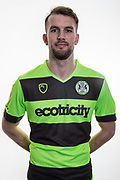 Forest Green Rovers Christian Doidge(9) at Stanley Park, Chippenham, United Kingdom on 14 January 2019.
