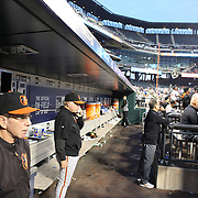 Buck Showalter the Baltimore Orioles Manager in the dugout during the New York Mets Vs Baltimore Orioles MLB regular season baseball game at Citi Field, Queens, New York. USA. 5th May 2015. Photo Tim Clayton