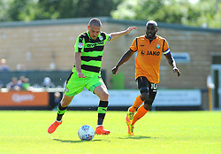 Liam Noble of Forest Green Rovers gets past Jamal Campbell-Ryce of Barnet- Mandatory by-line: Nizaam Jones/JMP - 05/08/2017 - FOOTBALL - New Lawn Stadium - Nailsworth, England - Forest Green Rovers v Barnet - Sky Bet League Two