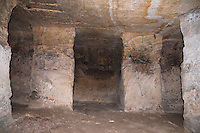 An empty chamber in the Osiris shaft in Giza, Egypt.