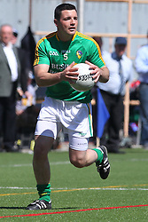 May 5, 2013; Bronx, NY; USA; Leitrim's Danny Beck (5) carries the ball during the first half at Gaelic Park.