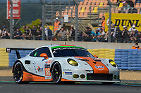 Michael Wainwright (GBR) / Adam Carroll (GBR) / Ben Barker (GBR) #86 Gulf Racing UK Porsche 911 RSR,  during Le Mans 24 Hr June 2016 at Circuit de la Sarthe, Le Mans, Pays de la Loire, France. June 19 2016. World Copyright Peter Taylor/PSP. Copy of publication required for printed pictures.  Every used picture is fee-liable. http://archive.petertaylor-photographic.co.uk
