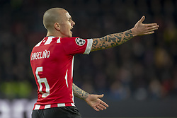 November 28, 2018 - Eindhoven, Netherlands - Angelino of PSV pictured during the UEFA Champions League Group B match between PSV Eindhoven and FC Barcelona at Philips Stadium in Eindhoven, Netherlands on November 28, 2018  (Credit Image: © Andrew Surma/NurPhoto via ZUMA Press)