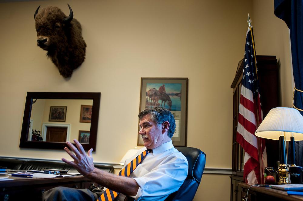U.S. Representative Denny Rehberg (R-MT) in his office on Capitol Hill.