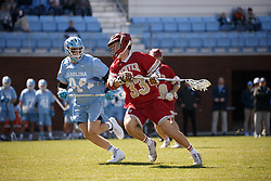 CHAPEL HILL, NC - MARCH 02: Ted Sullivan #33 of the Denver Pioneers during a game against the North Carolina Tar Heels on March 02, 2019 at the UNC Lacrosse and Soccer Stadium in Chapel Hill, North Carolina. Denver won 12-10. (Photo by Peyton Williams/US Lacrosse)