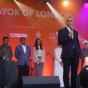 London, Uk. 15th Oct, 2017. Speaker Mayor of London, Sadiq Khan at the Diwali in Trafalgar Square.