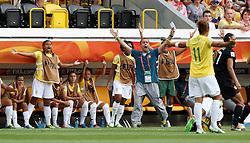 10.07.2011, Glückgas Stadion, Dresden,  GER, FIFA Women Worldcup 2011, Viertelfinale , Brasil (BRA) vs USA (USA)  im Bild  Trainer Kleiton Lima (BRA) wütend .//  during the FIFA Women Worldcup 2011, Quarterfinal, Germany vs Japan  on 2011/07/10, Arena im Allerpark , Wolfsburg, Germany.  .EXPA Pictures © 2011, PhotoCredit: EXPA/ nph/  Hessland       ****** out of GER / CRO  / BEL ******