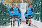 BENAHAVIS - 06-01-2017, Trainingskamp, AZ, AZ speler Robert Muhren, AZ speler Jop van der Linden, AZ speler Rens van Eijden, sproeiers.
