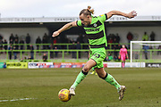 Forest Green Rovers Joseph Mills(23) runs forward during the EFL Sky Bet League 2 match between Forest Green Rovers and Yeovil Town at the New Lawn, Forest Green, United Kingdom on 16 February 2019.