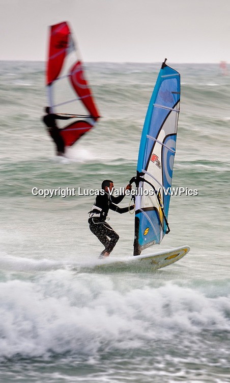 Tunez:Hammamet. Beach.Windsurfing