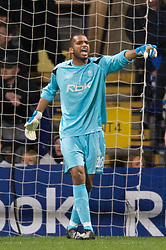 BOLTON, ENGLAND - Thursday, March 6, 2008: Bolton Wanderers' goalkeeper Ali Al-Habsi during the UEFA Cup Round of 16 1st Leg match against Sporting Clube de Portugal at the Reebok Stadium. (Pic by David Rawcliffe/Propaganda)