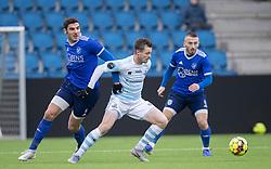 Nicolas Mortensen (FC Helsingør) og Nemanja Cavnic (Fremad Amager) under træningskampen mellem FC Helsingør og Fremad Amager den 18. januar 2020 på Helsingør Ny Stadion (Foto: Claus Birch)