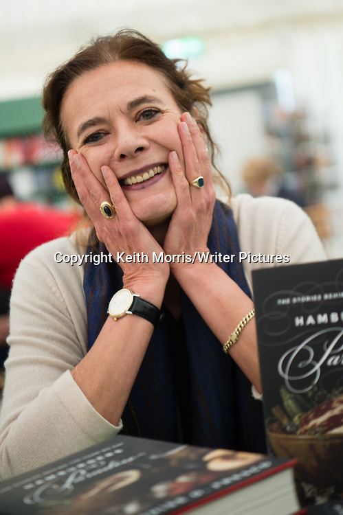 Louise O Fresco. Food writer, Aurhor of 'Hamburgers in Paradise: the stories behind the food we eat'. At The Hay Festival of Literature and the Arts, Hay on Wye, Powys, Wales UK, June 01 2016<br /> <br /> Picture by Keith Morris/Writer Pictures