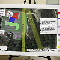 The proposed plan for a the new Lee County jail.
