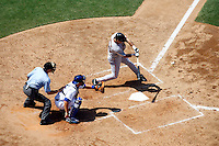 9 May 2009: Batter Rich Aurilia gets ready to hit the ball during  the MLB Los Angeles Dodgers 8-0 shut out over the San Francisco Giants in game 32 of the National League regular season. Weather was sunny and 73', they played infront of 41,425 fans on Saturday.