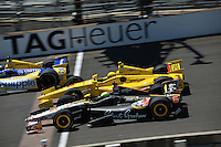 Helio Castroneves, Townsend Bell, Indianapolis 500, Indianapolis Motor Speedway, Indianapolis, IN USA 5/25/2014