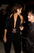 Donna Karan and Jamie Cullen, Donna Karan Party to celebrate 20 Years  as a designer.  Showroom in New Bond St. 21 September 2004. DoSUPPLIED FOR ONE-TIME USE ONLY-DO NOT ARCHIVE. © Copyright Photograph by Dafydd Jones 66 Stockwell Park Rd. London SW9 0DA Tel 020 7733 0108 www.dafjones.com
