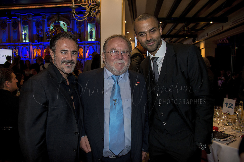 Tony Parker's Charity gala at &quot;Abbaye de Colonges&quot;<br /> Jos&eacute; Garcia, Jean-Yves Glemee and Tony Parker