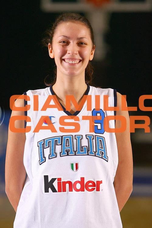 DESCRIZIONE : Pomezia Torneo Internazionale Basket Femminile Nazionale Italia Donne Under 20<br /> GIOCATORE : Alessandra Visconti<br /> SQUADRA : Italia<br /> EVENTO :  Pomezia Torneo Internazionale Basket Femminile Nazionale Italia Donne Under 20<br /> GARA : <br /> DATA : 29/12/2006<br /> CATEGORIA : Ritratto<br /> SPORT : Pallacanestro<br /> AUTORE : Agenzia Ciamillo-Castoria/E.Castoria<br /> Galleria : FIP Nazionale Italiana<br /> Fotonotizia : Pomezia Torneo Internazionale Basket Femminile Nazionale Italia Donne Under 20<br /> Predefinita :