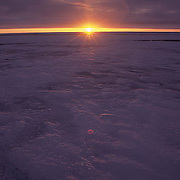 Antarctica, Sunset over pack ice on Weddell Sea.