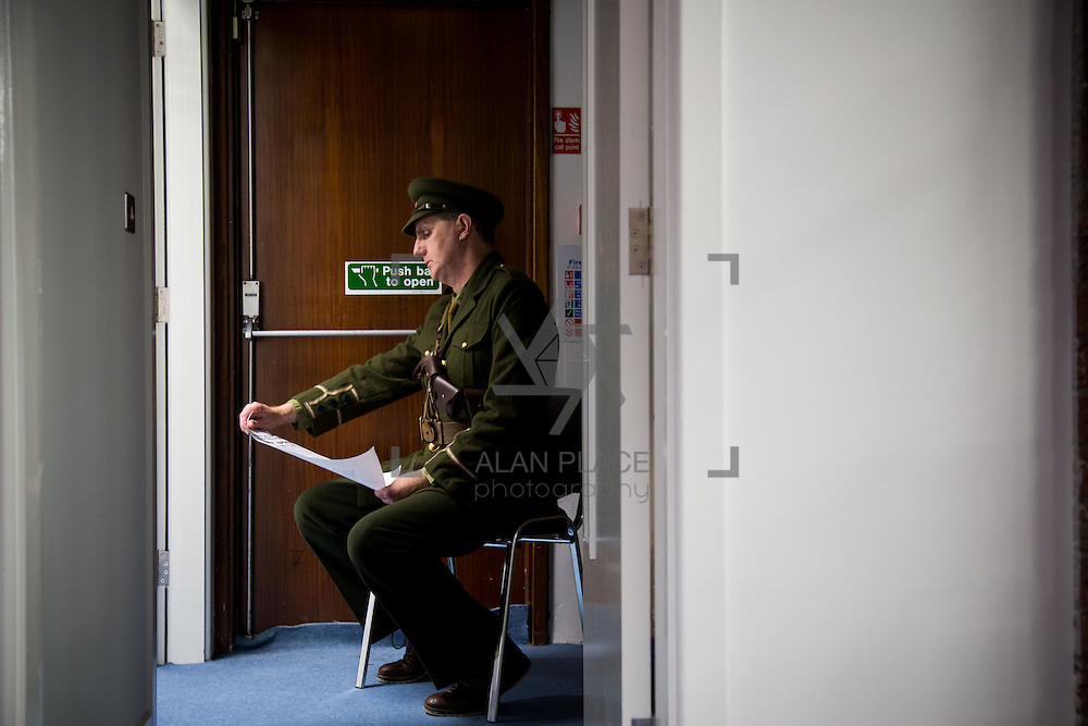 08/12/2015                <br /> Limerick City &amp; County Council launches Ireland 2016 Centenary Programme<br /> <br /> An extensive programme of events across the seven programme strands of the Ireland 2016 Centenary Programme was launched at the Granary Library, Michael Street, Limerick, last night (Monday, 7 December 2015) by Cllr. Liam Galvin, Mayor of the City and County of Limerick.<br /> <br /> Led by Limerick City &amp; County Council and under the guidance of the local 1916 Co-ordinator, the programme is the outcome of consultations with interested local groups, organisations and individuals who were invited to participate in the planning and implementation of events and initiatives during 2016.  <br /> <br /> Actor Mike Finn pictured before reading the proclamation. Picture: Alan Place