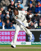 Jofra Archer of England bowling during the International Test Match 2019, fourth test, day two match between England and Australia at Old Trafford, Manchester, England on 5 September 2019.