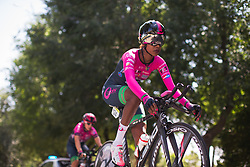 Eyerusalem Kelil (ETH) of BePink Cycling Team warms up for Stage 1 of the Madrid Challenge - a 12.6 km team time trial, starting and finishing in Boadille del Monte on September 15, 2018, in Madrid, Spain. (Photo by Balint Hamvas/Velofocus.com)