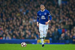LIVERPOOL, ENGLAND - Saturday, January 7, 2017: Everton's Ramiro Funes Mori in action against Leicester City during the FA Cup 3rd Round match at Goodison Park. (Pic by David Rawcliffe/Propaganda)