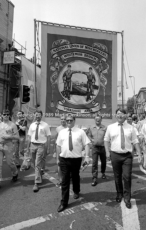 Whitemoor Branch banner. NUM Centenary Demonstration and Gala, Barnsley.