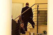 Roma  23 Aprile 2013.Si riunusce  la direzione nazionale del Partito Democratico. Pier Luigi Bersani incontra Annarella all'interno della sede del PD