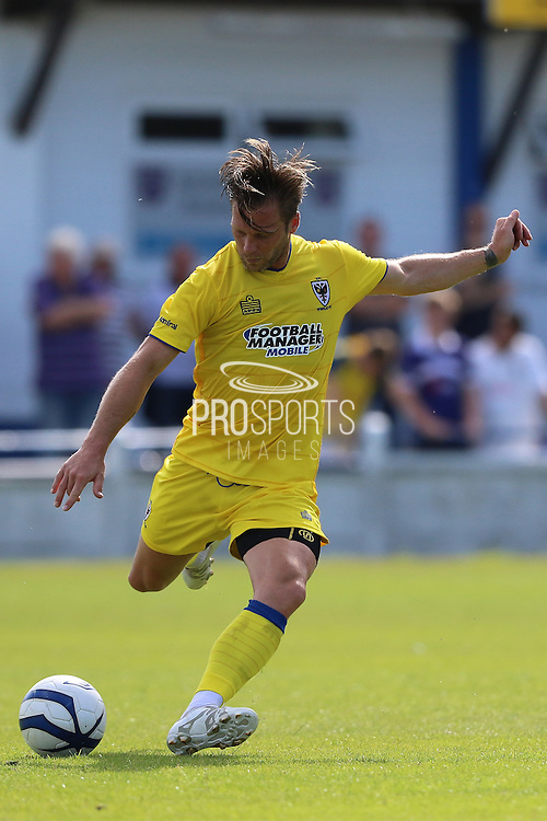 AFC Wimbledon midfielder Dannie Bulman (4) during the Pre-Season Friendly match between Margate and AFC Wimbledon at Hartsdown Park, Margate, United Kingdom on 16 July 2016. Photo by Stuart Butcher.