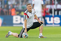 06.06.2014, Coface Arena, Mainz, GER, FIFA WM, Testspiel, Deutschland vs Armenien, im Bild Bastian Schweinsteiger (Deutschland) beim Aufwaermen // during friendly match between Germany and Armenia for Preparation of the FIFA Worldcup Brasil 2014 at the Coface Arena in Mainz, Germany on 2014/06/06. EXPA Pictures © 2014, PhotoCredit: EXPA/ Eibner-Pressefoto/ Neis<br /> <br /> *****ATTENTION - OUT of GER*****