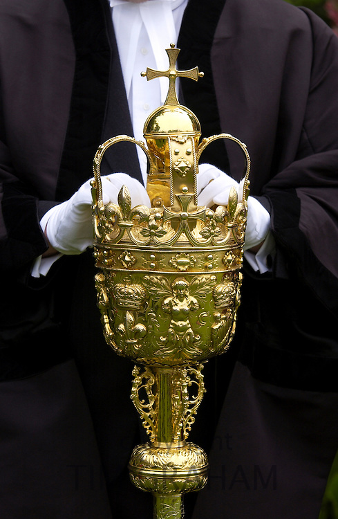 Brass mace for traditional ceremonies, England, United Kingdom