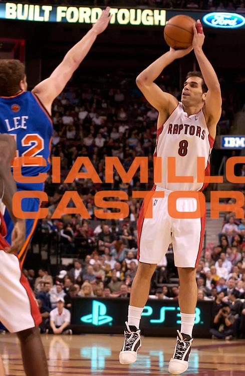 DESCRIZIONE : Toronto NBA 2009-2010 Toronto Raptors New York Knicks<br /> GIOCATORE : Jose Calderon<br /> SQUADRA : Toronto Raptors New York Knicks<br /> EVENTO : Campionato NBA 2009-2010 <br /> GARA : Toronto Raptors New York Knicks<br /> DATA : 14/04/2010<br /> CATEGORIA :<br /> SPORT : Pallacanestro <br /> AUTORE : Agenzia Ciamillo-Castoria/V.Keslassy<br /> Galleria : NBA 2009-2010<br /> Fotonotizia : Toronto NBA 2009-2010 Toronto Raptors Chicago Bulls<br /> Predefinita :
