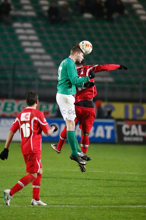 20141129 - La Louvière, Belgium :  during the 3rd division game betwen La Louvière and Turnhout on 29/11/2014 in La Louvière (Stade du Tivoli)