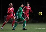 Action under træningskampen mellem FC Helsingør og Saudi Arabien U21 landshold den 27. november 2019 på Svanemølle Anlægget i København (Foto: Claus Birch).