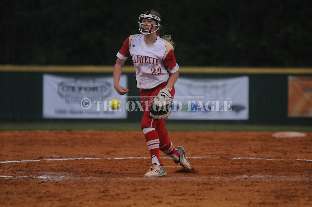 Lafayette High vs. Pontotoc in Oxford, Miss. on Tuesday, April 19, 2016.