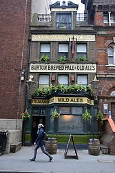 Princess of Prussia traditional city pub, Whitechapel, London E1, UK April 2019