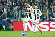 Juventus Forward Cristiano Ronaldo during the Champions League Group H match between Juventus FC and Manchester United at the Allianz Stadium, Turin, Italy on 7 November 2018.