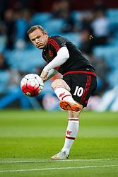 Wayne Rooney of Manchester United warms up - Mandatory byline: Rogan Thomson/JMP - 07966 386802 - 14/08/2015 - FOOTBALL - Villa Park Stadium - Birmingham, England - Aston Villa v Manchester United - Barclays Premier League.