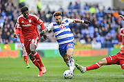 Reading FC midfielder Danny Williams bursts through midfield during the Sky Bet Championship match between Reading and Cardiff City at the Madejski Stadium, Reading, England on 19 March 2016. Photo by Mark Davies.