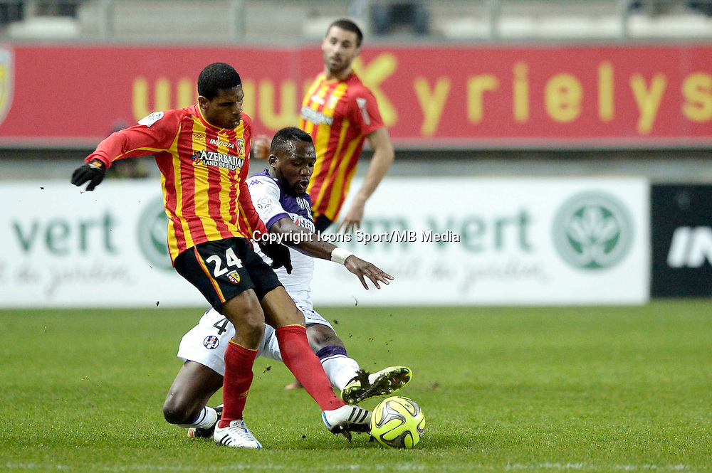 Ludovic Baal / Tongo Doumbia - 14.03.2015 - Lens / Toulouse - 29eme journee de Ligue 1<br /> Photo : Andre Ferreira / Icon Sport