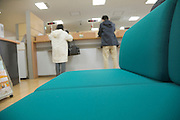 bank counter in Japan