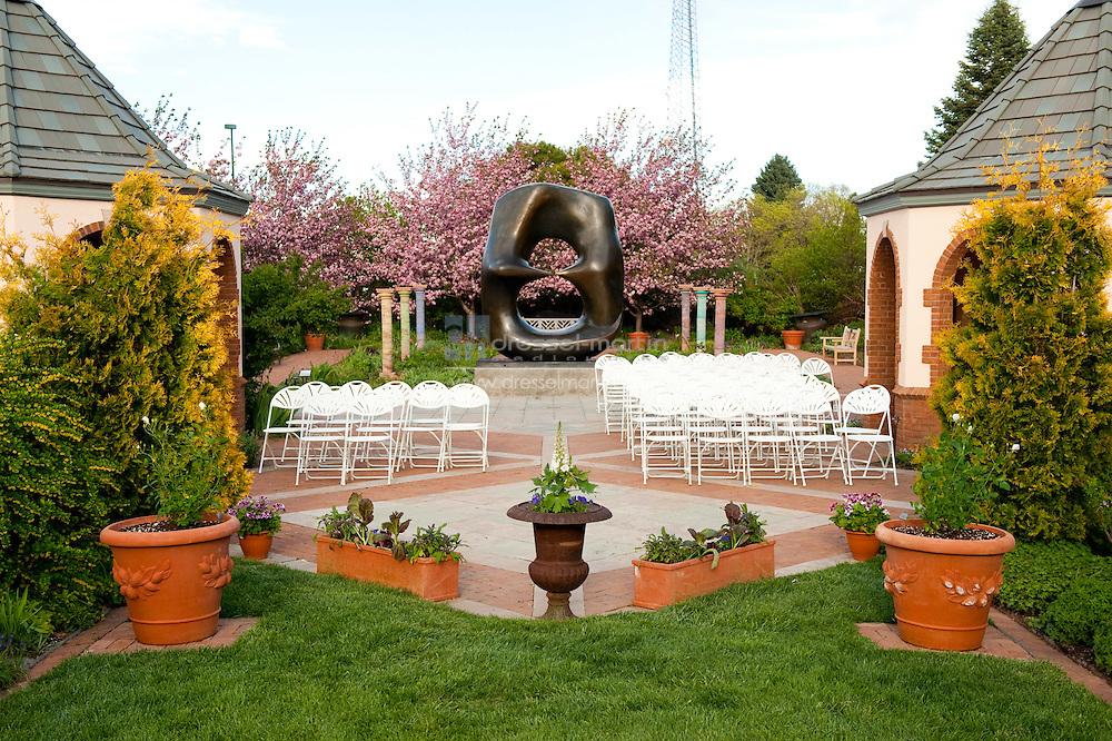 Denver Botanic Gardens, Romantic Garden, Wedding set-up,
