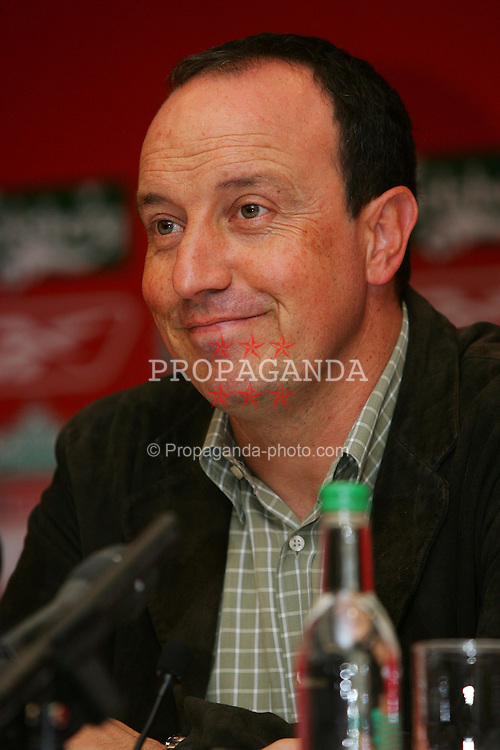 LIVERPOOL, ENGLAND - WEDNESDAY AUGUST 25th 2004: Liverpool's manager Rafael Benitez at a press conference at Anfield. (Photo by David Rawcliffe/Propaganda)