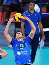 Dejan Vincic #9 during volleyball match between National teams of Poland and Slovenia in Quarterfinals of 2015 CEV Volleyball European Championship - Men, on October 14, 2015 in Arena Armeec, Sofia, Bulgaria. Photo by Ronald Hoogendoorn / Sportida