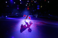 Ice skater with shadow.