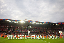 BASEL, SWITZERLAND - Wednesday, May 18, 2016: The opening ceremony of the UEFA Europa League Final between Liverpool and Sevilla at St. Jakob-Park. (Pic by David Rawcliffe/Propaganda)