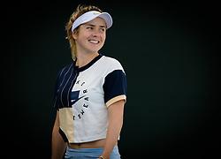 February 18, 2019 - Dubai, ARAB EMIRATES - Elina Svitolina of the Ukraine practices ahead of the 2019 Dubai Duty Free Tennis Championships WTA Premier 5 tennis tournament (Credit Image: © AFP7 via ZUMA Wire)