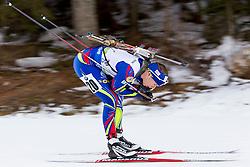 Anais Bescond (FRA) during Women 12.5 km Mass Start at day 4 of IBU Biathlon World Cup 2015/16 Pokljuka, on December 20, 2015 in Rudno polje, Pokljuka, Slovenia. Photo by Urban Urbanc / Sportida